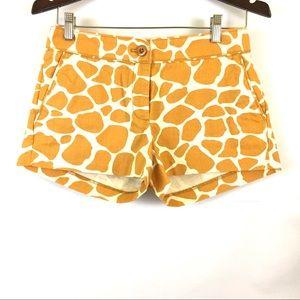 J. Crew city fit giraffe print shorts flat front 4